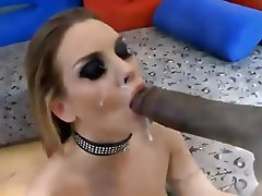 Blonde, Blowjob, Cumshot, Interracial