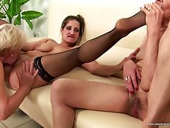 Lesbian, Granny, Mature, MILF, Old and Young