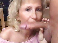 Blonde, Blowjob, Mature, MILF, Cum in mouth