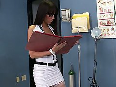 Doctor, Brunette, Blowjob, Nurse