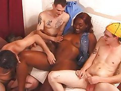 Ebony gang sex