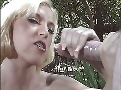 Blonde, Cumshot, Handjob, Outdoor