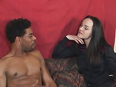 Interracial, Blowjob, Brunette, Vintage