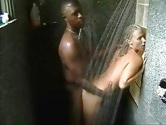 Amateur, Blonde, Blowjob, Interracial, Shower