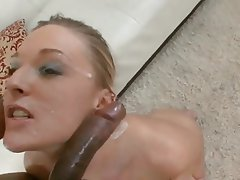 Blonde, Cumshot, Interracial