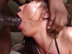 Asian milf babe deepthroats enormous dick